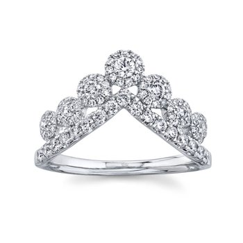 White Gold Diamond Crown Ring