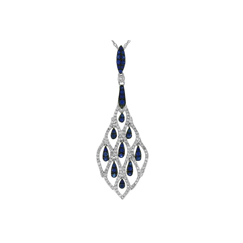 Lauray's Signature Collection White Gold Sapphire and Diamond Necklace