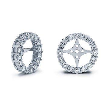 White Gold Diamond Ear Jackets