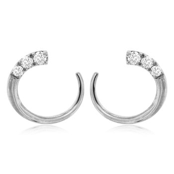 White Gold Diamond Mini Hoop Earrings