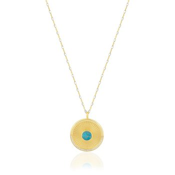 Lena Turquoise Medallion Necklace