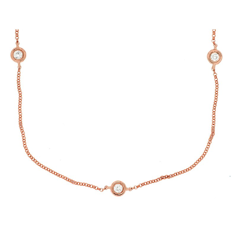 Lauray's Signature Collection Diamond Bezel Necklace