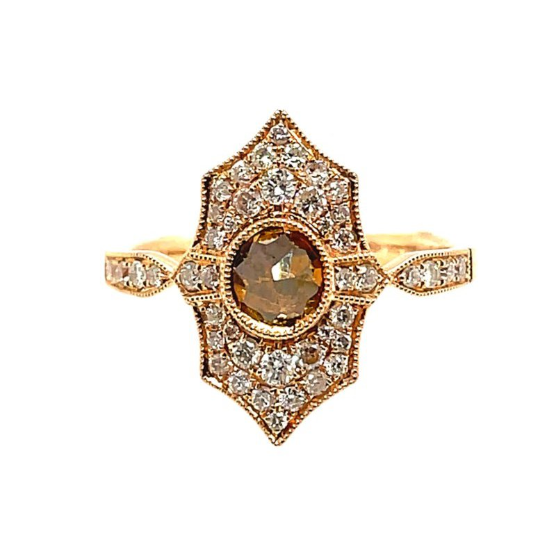 Lauray's Signature Collection Yellow Gold Vintage Diamond Ring