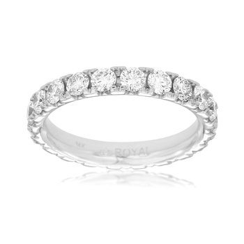 Lady's  White Gold Diamond Wedding Band