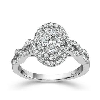 Infinity Double Halo Oval Diamond Ring