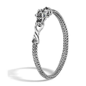 Sterling Silver Naga Station Bracelet