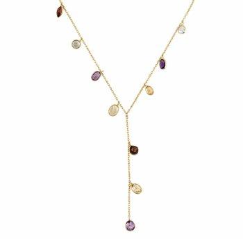 Multi Gemstone   Yaeli Necklace