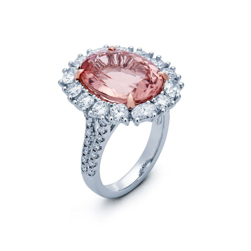 Lauray's Signature Collection White Gold Morganite Ring