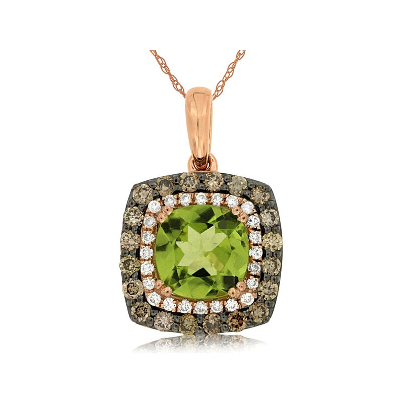 Lauray's Signature Collection Rose Gold Peridot Necklace