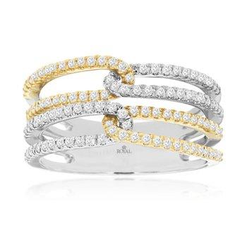 Two Tone Diamond Fashion Ring