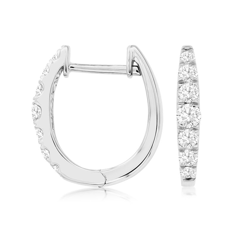 Lauray's Signature Collection Diamond Hoop Earrings