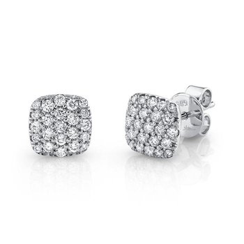 .50ct 14K Diamond Pave Stud Earrings
