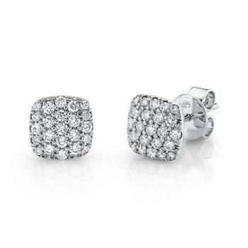 .50ct 14K Diamond Pave Stud Earrings