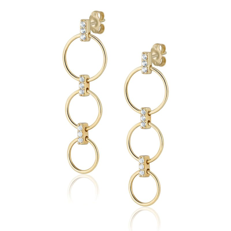 ela rae new york city Triple Ring Earrings