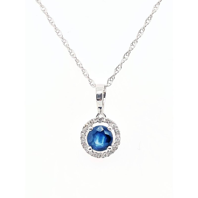 Lauray's Signature Collection September Birthstone Necklace Sapphire