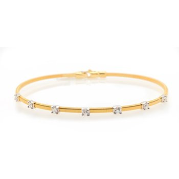 Yellow Gold Flexible Bracelet