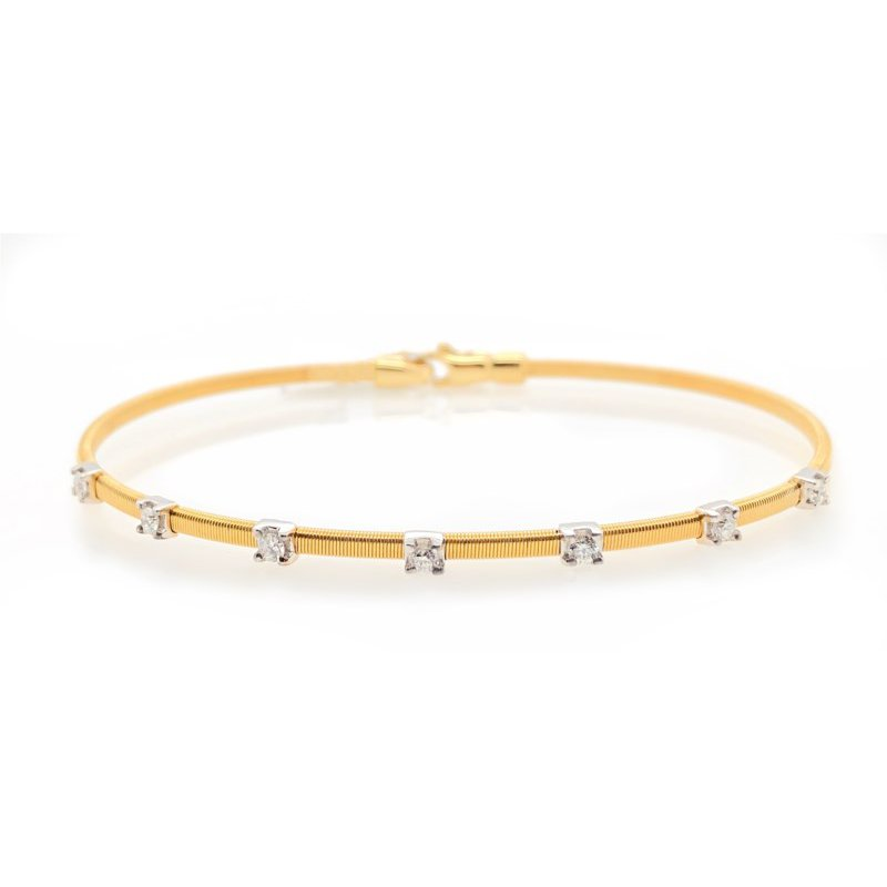 Lauray's Signature Collection Yellow Gold Flexible Bracelet