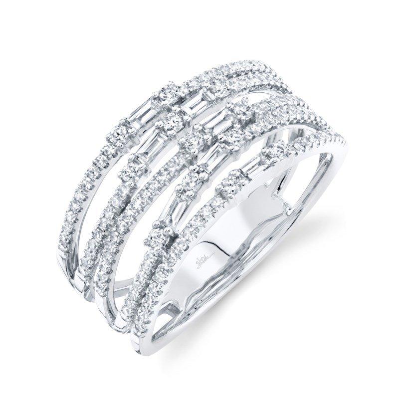 Shy Creation White Gold Diamond Fashion Ring