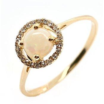 October Birthstone Opal Ring