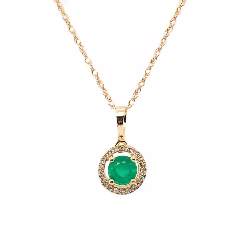 Lauray's Signature Collection May Birthstone Emerald Necklace