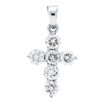 White Gold Cross Diamond Pendant