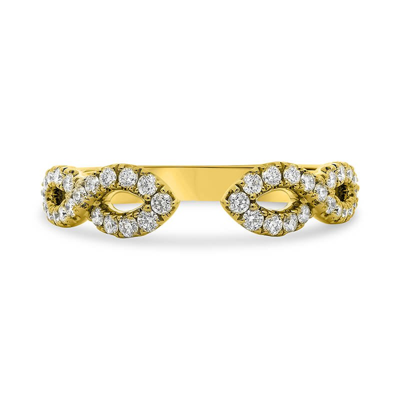 Lauray's Signature Collection Yellow Gold Infinity Wedding Band
