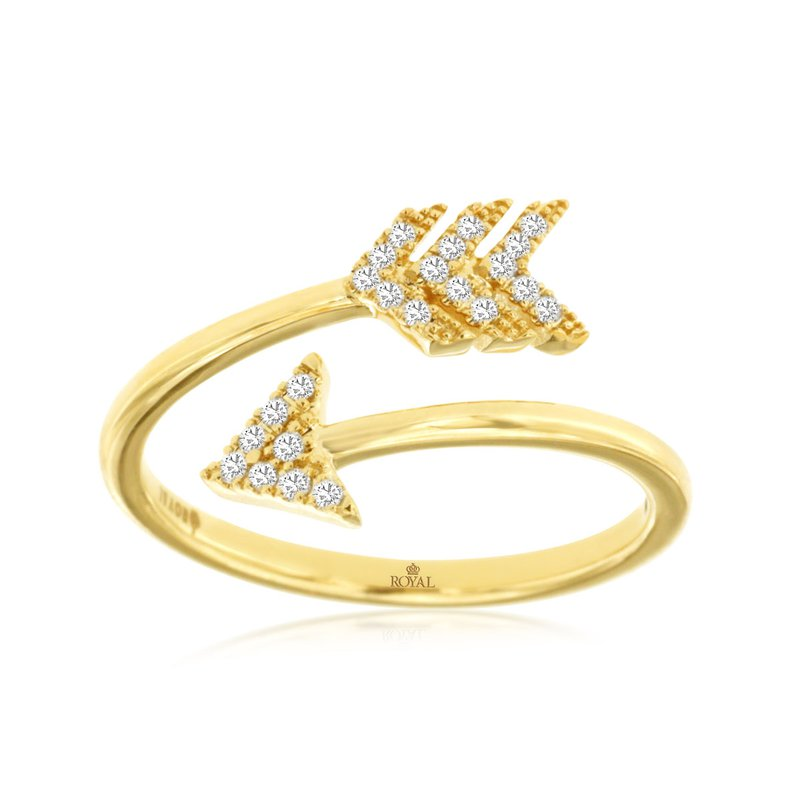 Lauray's Signature Collection Yellow Gold Diamond Arrow Fashion Ring