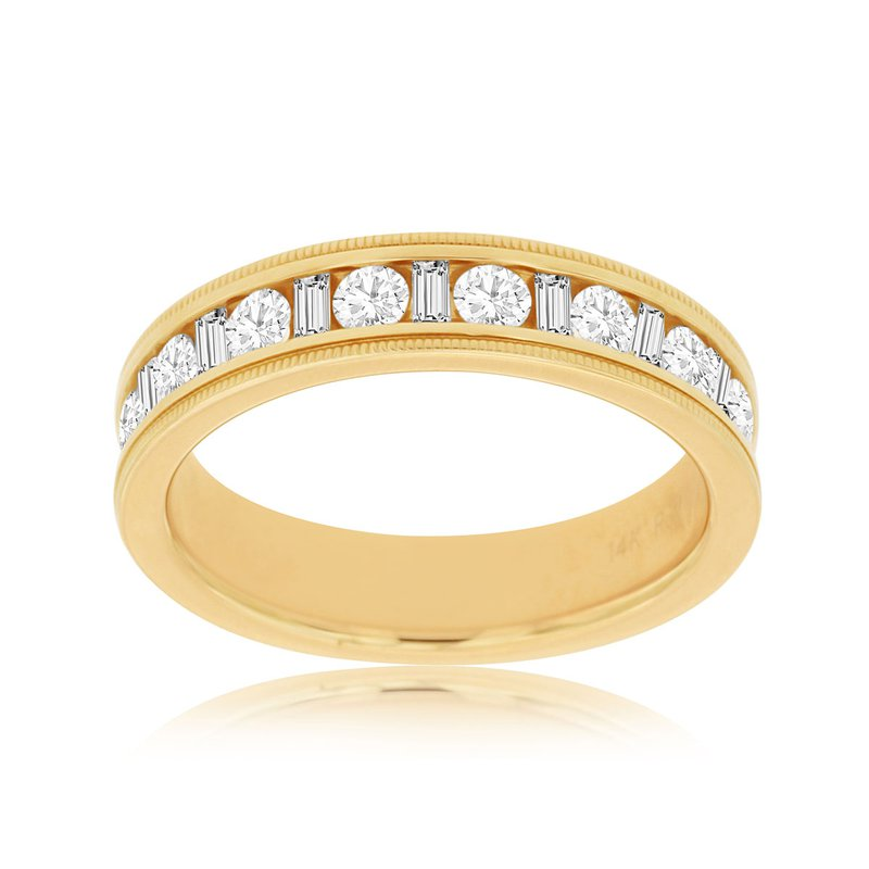 Lauray's Signature Collection Men's Yellow Gold Diamond Wedding Band