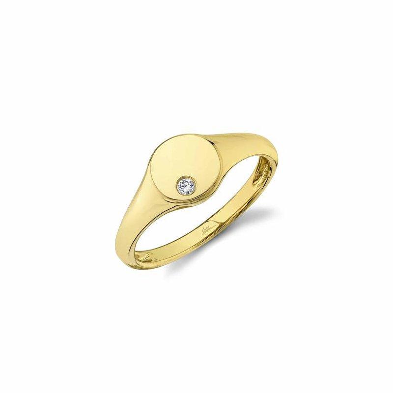 Shy Creation Yellow Gold Diamond Ring