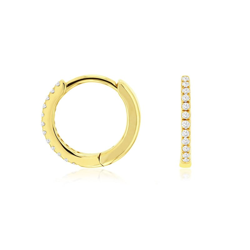 Lauray's Signature Collection Yellow Gold Huggy Earrings