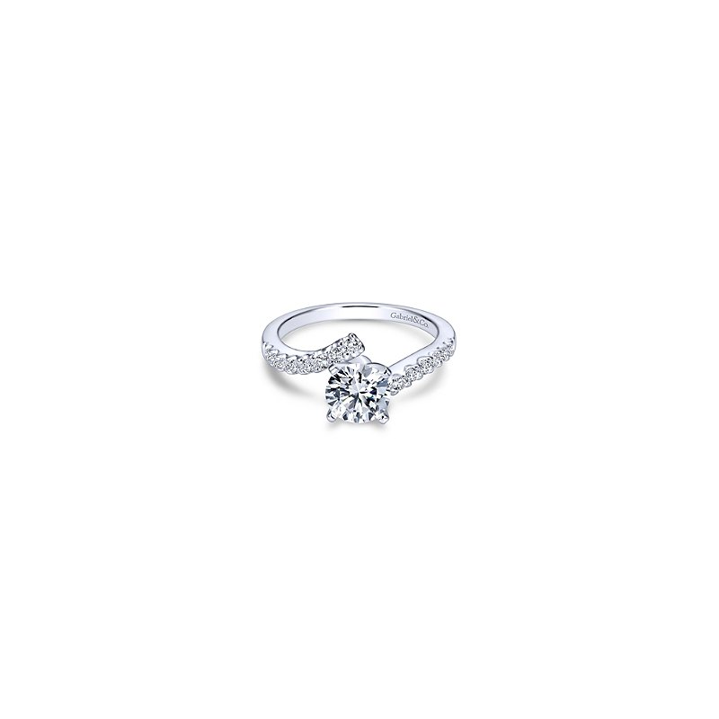 Gabriel & Co Round Bypass Diamond Engagement Ring Mounting
