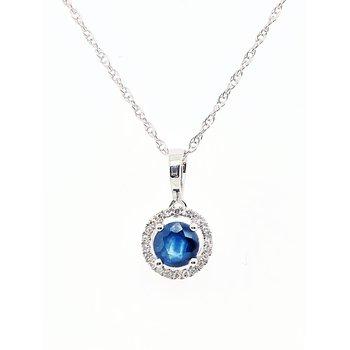 September Birthstone Necklace Sapphire