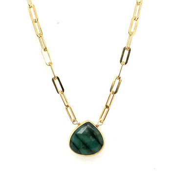 Flat Rectangle Necklace