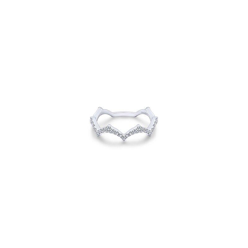 Gabriel Catalog Scalloped Diamond Ring