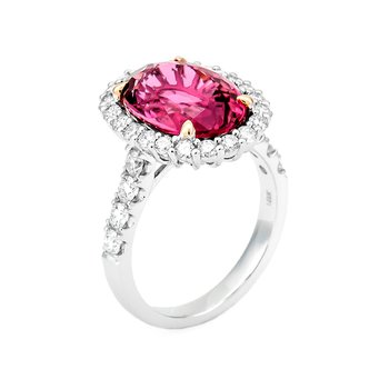 White Gold Pink Tourmaline