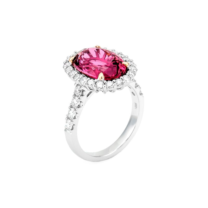 Lauray's Signature Collection White Gold Pink Tourmaline