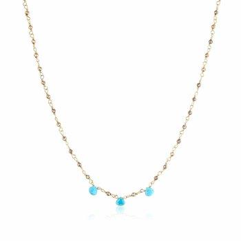 Lori Turquoise Trio Necklace