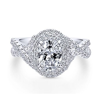 Oval Diamond Engagement Ring Mounting