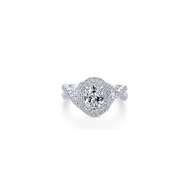 Gabriel Catalog Oval Diamond Engagement Ring Mounting
