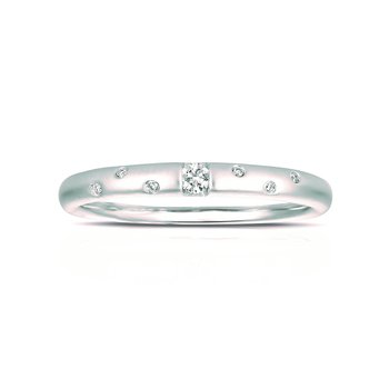 White Gold Stackable Diamond Ring