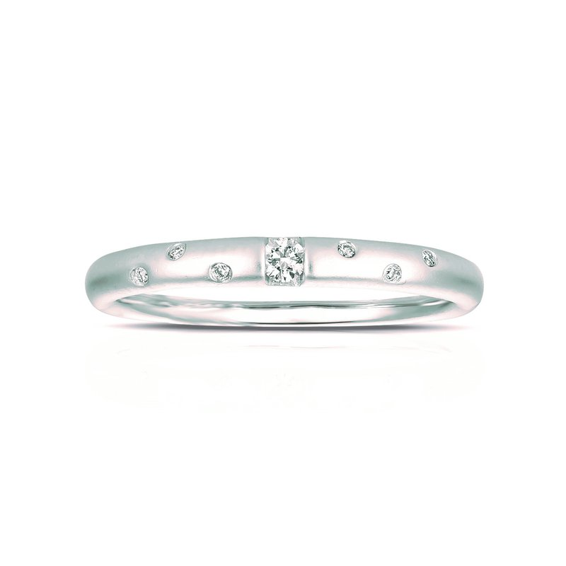 Lauray's Signature Collection White Gold Stackable Diamond Ring