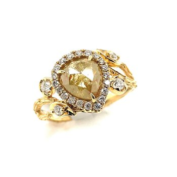 Yellow Gold Fashion Slice Diamond Ring