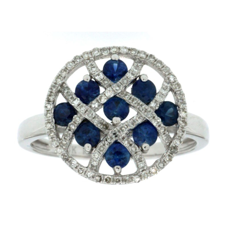 Lauray's Signature Collection White Gold Sapphire Ring
