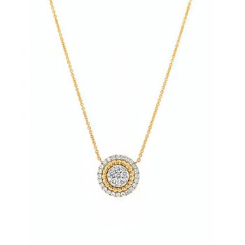 Two-Tone Gold Diamond Necklace