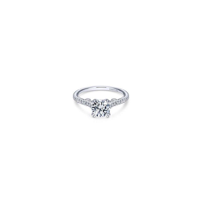 Gabriel Catalog Round Diamond Engagement Ring Mounting