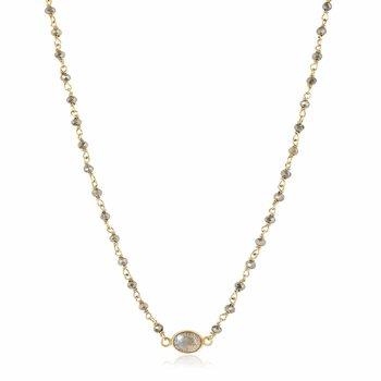 Pyrite and Labradorite Libi Necklace