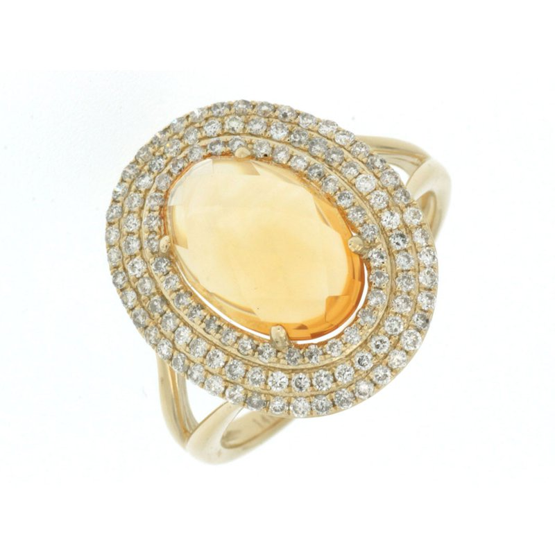 Lauray's Signature Collection Citrine and Diamond Ring