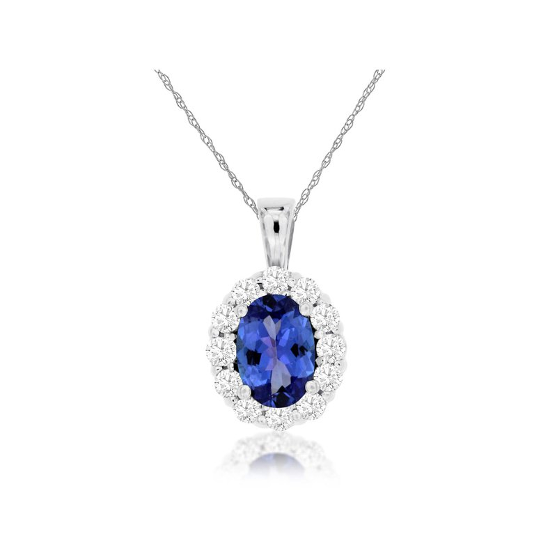 Lauray's Signature Collection Tanzanite and Diamond Necklace