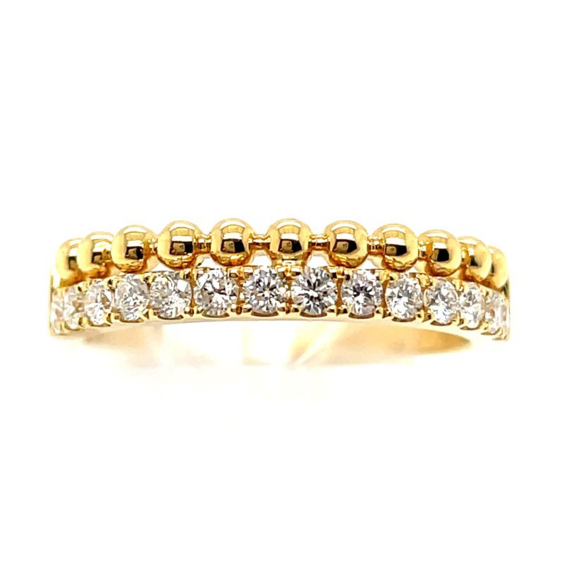 Lauray's Signature Collection Yellow Gold Diamond Fashion Band