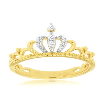 Yellow Gold Diamond Tiara Ring